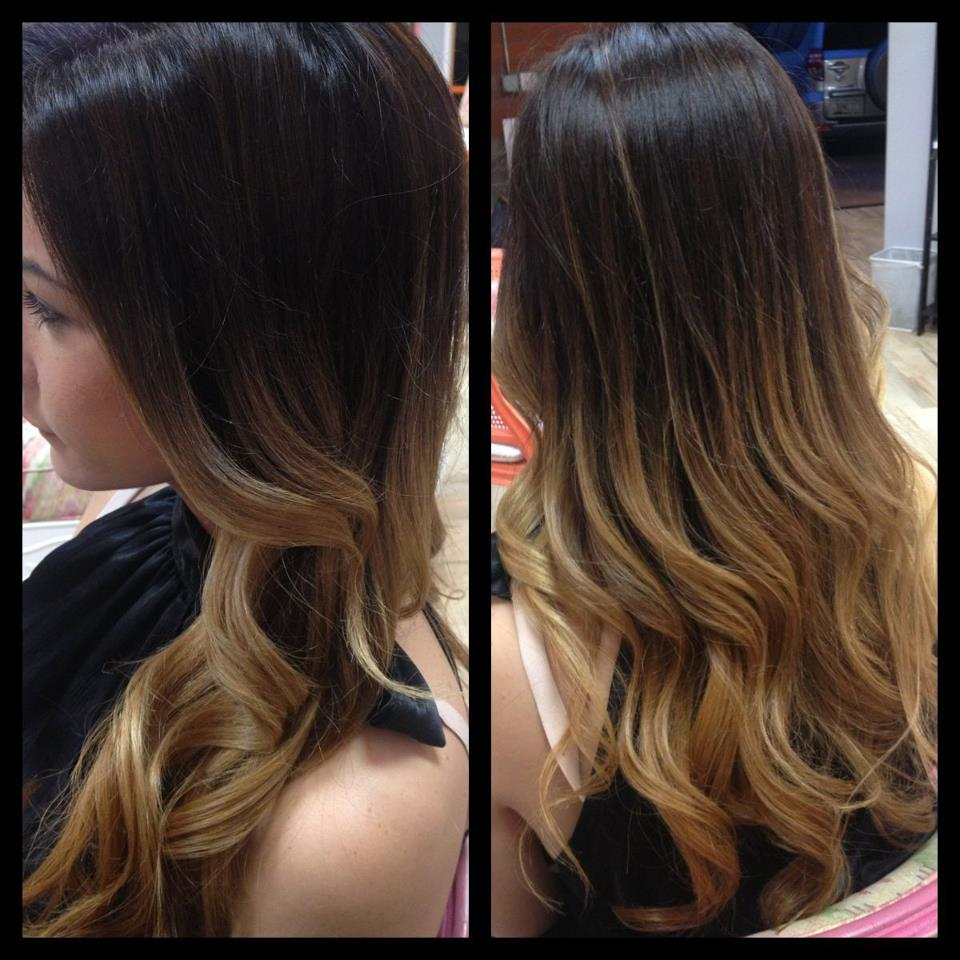 Light Brown To Dark Brown Reverse Ombre Hair